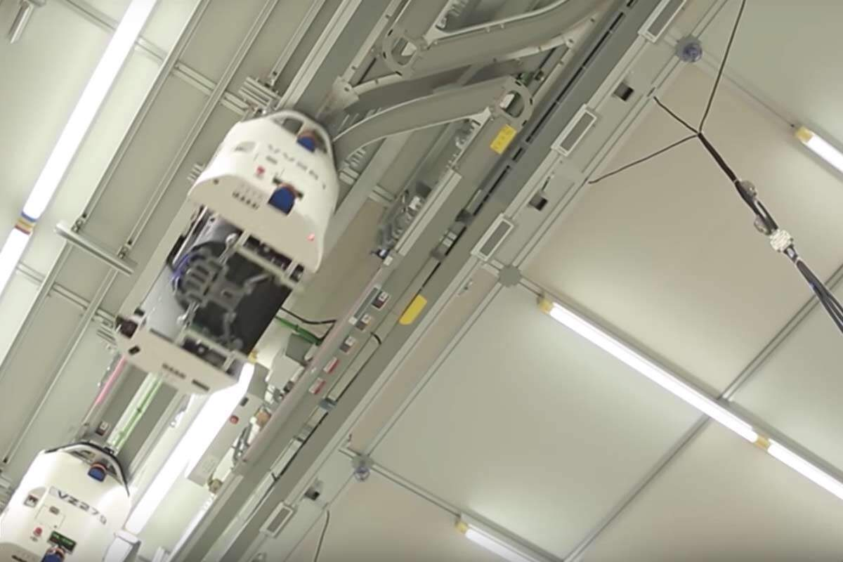 Overhead Hoist Transport Devices Drive Materials In