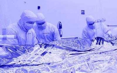 NASA's Telescope Sunshield Layers Inspected in Aerospace Cleanroom