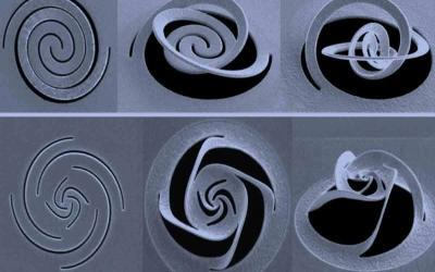 Nanoscale Kirigami Technique Could Enable Microchip-Based 3-D Optical Devices