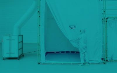 Portable cleanroom system for contamination-free manufacturing